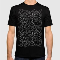 Shattered White On Black Mens Fitted Tee Black SMALL