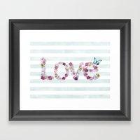SPRING FLORAL LOVE Framed Art Print