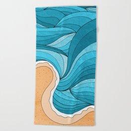 Beach Towel - Beach Tide -  Steve Wade ( Swade)