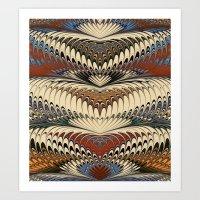 Marbling-1 Art Print