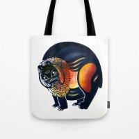 Angry Lion Tote Bag