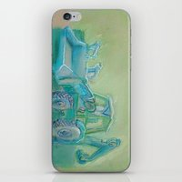 iPhone & iPod Skin featuring Traktor blue by AstridJN
