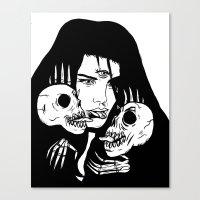 Lady Death Trip Canvas Print