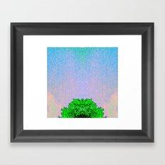 Glitch art treetop 2 Framed Art Print