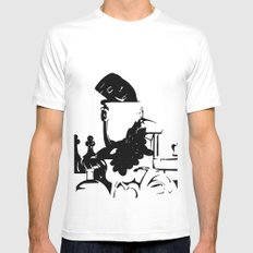 Ink Still Life SMALL White Mens Fitted Tee