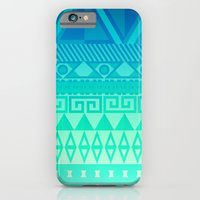 iPhone & iPod Case featuring Blue Mayan by Stefan Trudeau