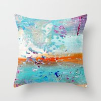 color splash #3 Throw Pillow