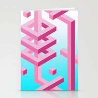 Isometric Adventure Stationery Cards