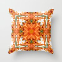 Abstract Kaleidoscope Of… Throw Pillow