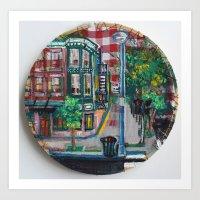 The Corner Of Market And Main  Art Print