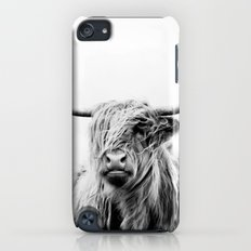 portrait of a highland cow iPod touch Slim Case
