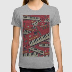 Synthesizer Womens Fitted Tee Athletic Grey SMALL