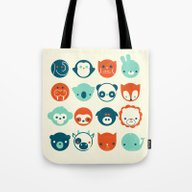 Tote Bag featuring Menagerie by Jay Fleck
