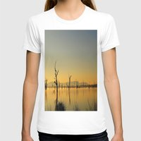 Tranquility  Womens Fitted Tee White SMALL