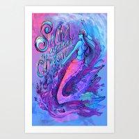Swim Against the Current Art Print