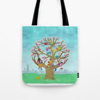 Tree Readers Tote Bag