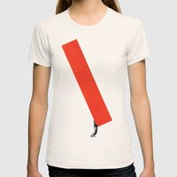 Heavy Construction Womens Fitted Tee Natural SMALL