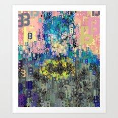 Bat Type Man - Abstract Pop Art Comic Art Print