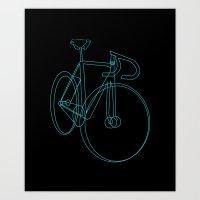 bike sketch Art Print