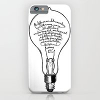 "iPhone & iPod Case featuring Ode to the Bulb - ""lights are on"" by SketchbookJack"