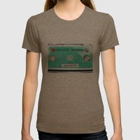Wander wolkswagen. Summer dreams. Green Womens Fitted Tee Tri-Coffee SMALL