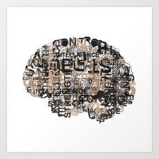 Mind over matter. Art Print