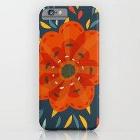 Decorative Whimsical Orange Flower iPhone 6 Slim Case