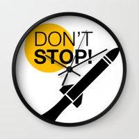 DON'T STOP! Wall Clock