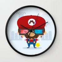 Mario 3d Wall Clock