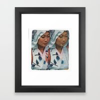 Twin Sister Framed Art Print