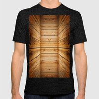 Wood Texture 840 Mens Fitted Tee Tri-Black SMALL
