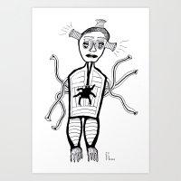 Spider Heart Art Print
