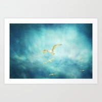 Brighton Seagulls Art Print