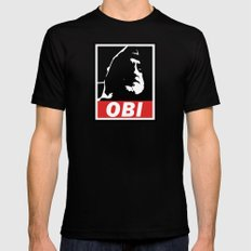 OBI SMALL Black Mens Fitted Tee
