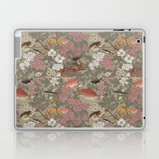 Fishes & Flowers - Seamless pattern Laptop & iPad Skin