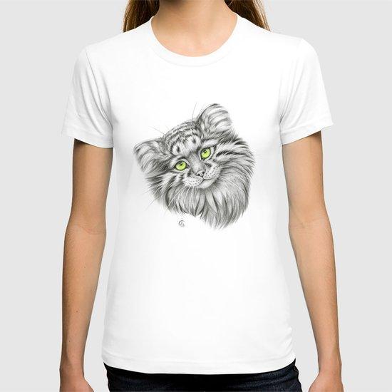 Pallas's Cat green G2012-51 T-shirt