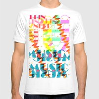 NEEDMusic Mens Fitted Tee White SMALL