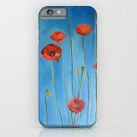 Blue Poppies iPhone 6 Slim Case