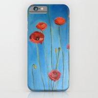 Blue Poppies iPhone 6 Slim Case