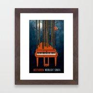 Moonlight Sonata - Beeth… Framed Art Print
