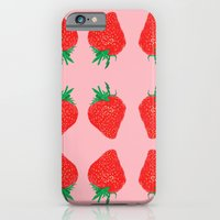 iPhone & iPod Case featuring Strawberry Motif, 2013. by Tiffany Horan