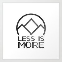 Less is More Art Print