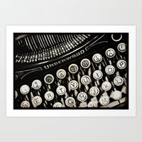 Underwood  typewriter  Art Print