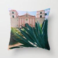 Santa Barbara Mission Throw Pillow