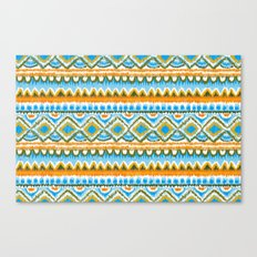 Desert Sunrise Ikat Canvas Print