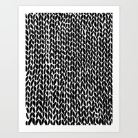 Hand Knitted Black S Art Print