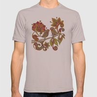 Hello Birds Mens Fitted Tee Cinder SMALL