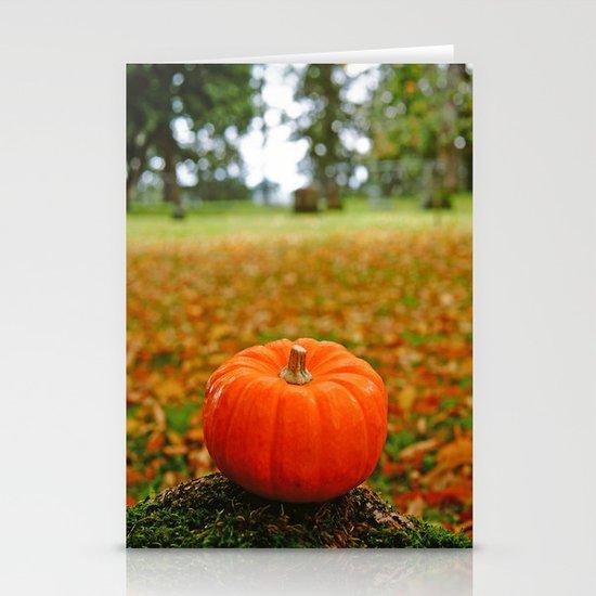 Autumn orange Stationery Card