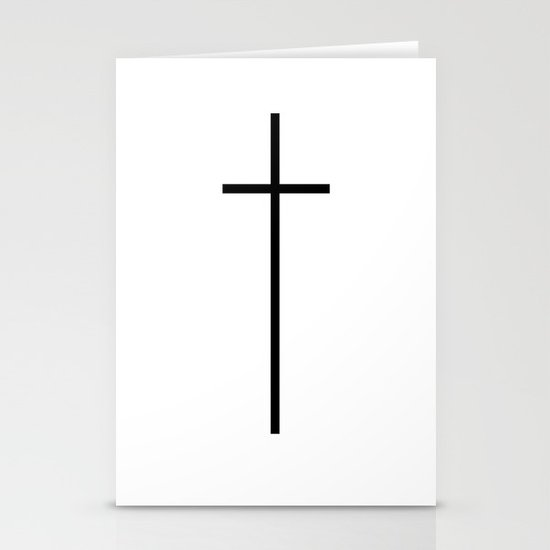 CROSSES (WHITE) Stationery Card