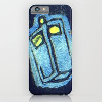 iPhone & iPod Case featuring Doctor Who: Abstract Tardis Starfield by InvaderDig